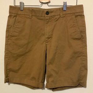 Marc Anthony Men's Brown Stretch Waist Shorts / 32